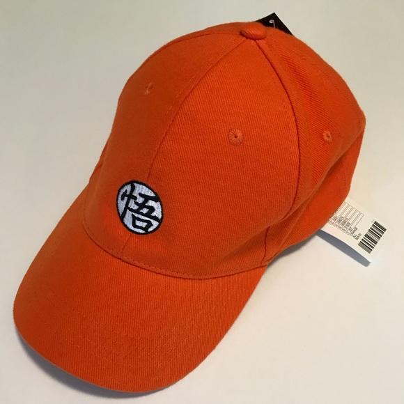 fe58a504dde Dragon Ball Z Baseball Hat Orange Embroidered NWT